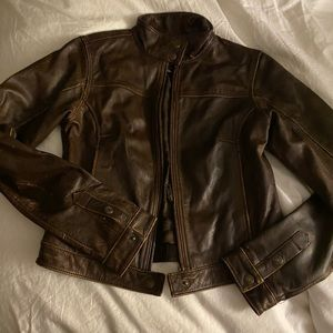 American Eagle leather bomber jacket Extra small